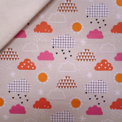 Fabric Felt :: Geo Forest :: Clouds on Natural