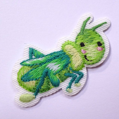 Embroidered Motif :: Cute Insects :: Grasshopper
