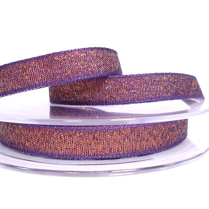 Woven Glitter Ribbon :: Purple & Copper