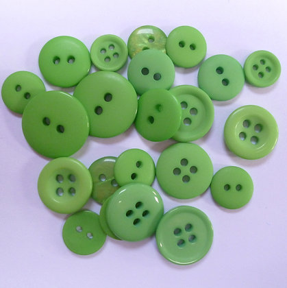 Dyed Pick & Mix Buttons :: Chartreuse