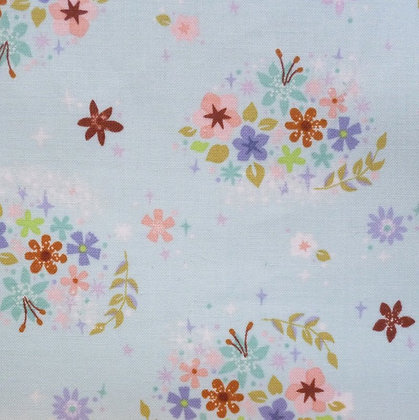 Fabric :: Neverland Flowers :: Mint