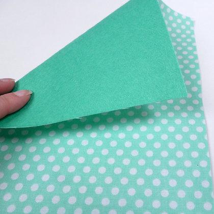 Fabric Felt :: Sea Foam Dot & Sea Green