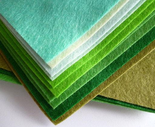 GREENS Premium Wool Felt Colour Pack