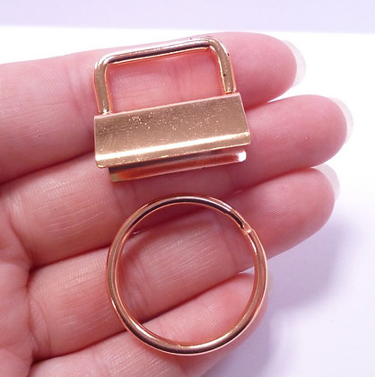 Key ring :: Fob & Ring :: rose gold colour