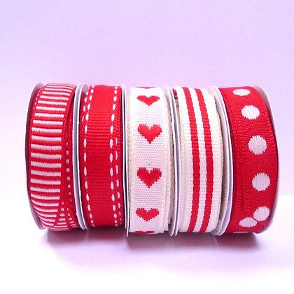 Scandinavian Ribbon Pack :: Red & White