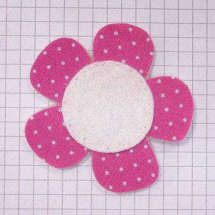Swiss Dot Fuchsia :: Med Flower :: Handmade Embellishment