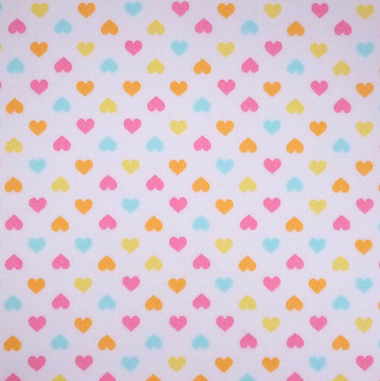 SALE Fabric :: Mini Hearts :: Pastel on white FAT QUARTER