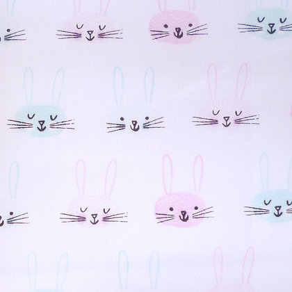 Fabric :: Wide Pastel  :: Pink & Mint Bunny