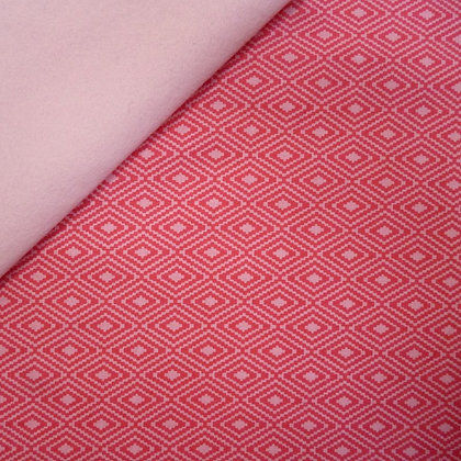 Fabric Felt :: Vintage Daydreams Pink/Red Diamonds on Blush