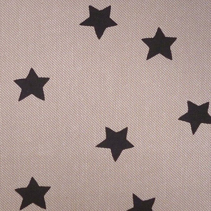 Fabric :: Wide :: Natural Christmas :: Big Black Stars