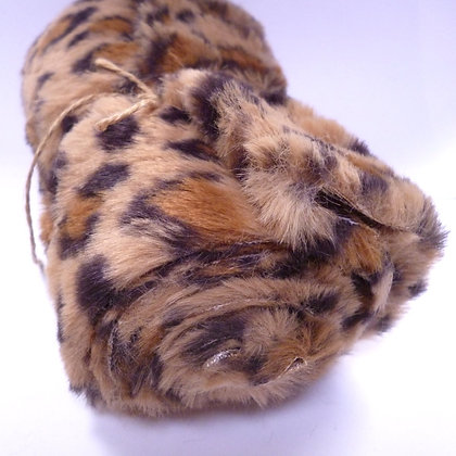 Faux Fur Fabric Mini Roll :: Leopard Dark Brown