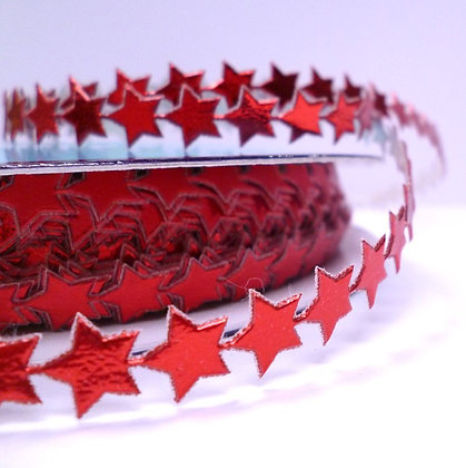 Cut Out Ribbon :: Tiny Stars :: Red