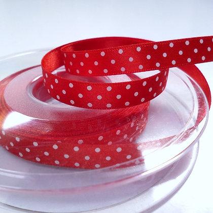Micro Dot Satin Ribbon :: Red