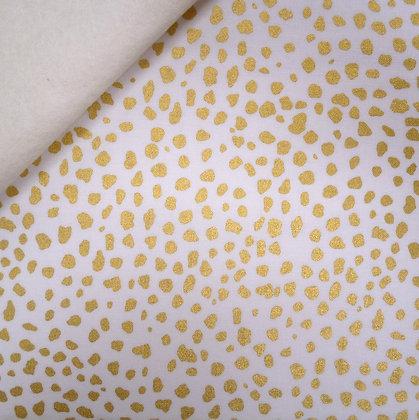 Fabric Felt :: Safari :: Gold Leopard Print on Natural LAST FEW