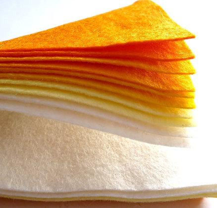YELLOWS Premium Wool Felt Colour Pack