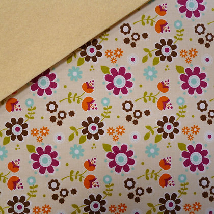 Fabric Felt :: Cream Matroyshka Flowers on Vanilla