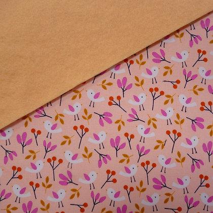 Fabric Felt :: Spring Walk Little Birds on Blossom