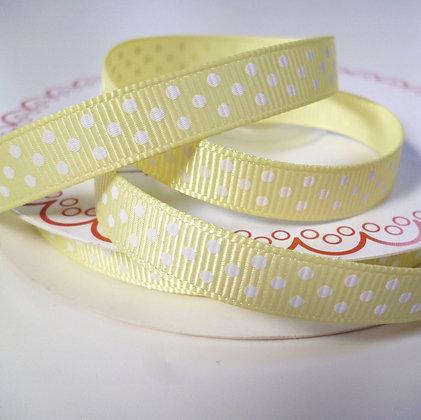 Polka Dot Grosgrain :: Lemon