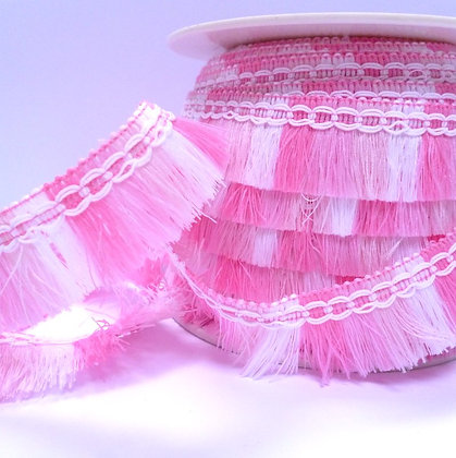 Mini Tassel Trim :: Pink
