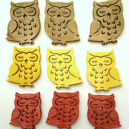 SALE :: Wooden Owls Pack