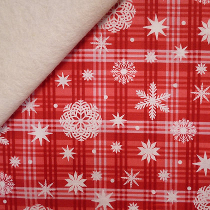 Fabric Felt :: Nordic Forest :: Snowflakes on Natural