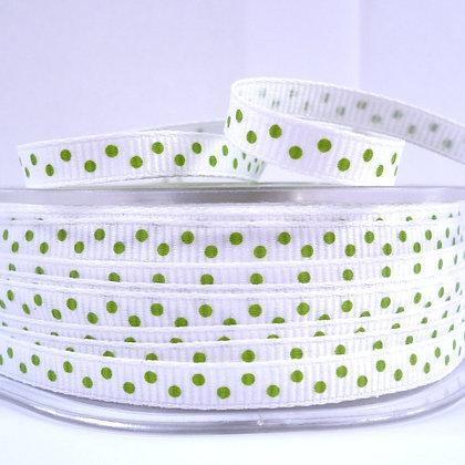 """1/4"""" Polka Dot Ribbon :: Green"""