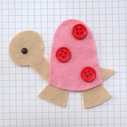Baby Pink :: Tortoise :: Handmade Embellishment