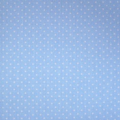 Fabric :: Wide :: Pin Dot Light Blue