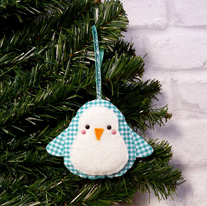 Gingham Penguin :: Bright Christmas :: made to order