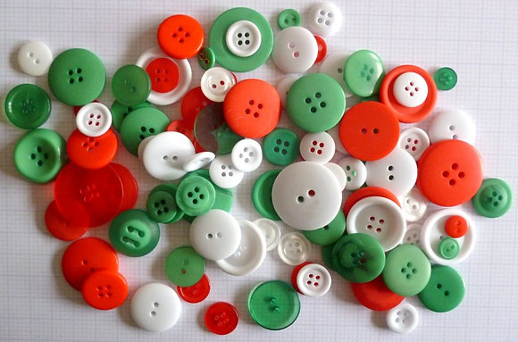 Buttons By Weight :: Modern Christmas