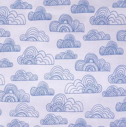 Fabric :: Jungle Fever :: Clouds White
