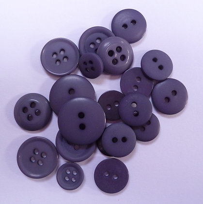 Dyed Pick & Mix Buttons :: Charcoal