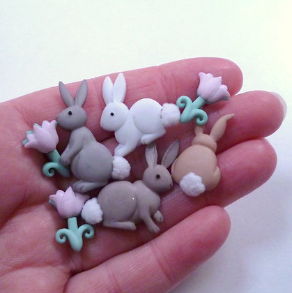 Fantastic Button Packs :: Bunny Tails
