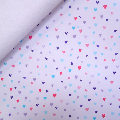 Fabric Felt :: Unicorn Kisses :: White Hearts on White