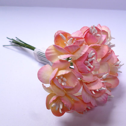 Large 2 Tone Paper Flower :: Peach/Pink
