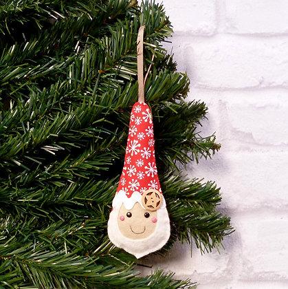 Snowflake Santa :: Scandinavian Christmas :: made to order