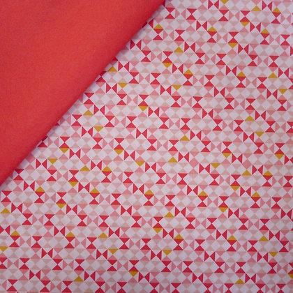 Fabric Felt :: Vintage Daydreams Triangles on Coral