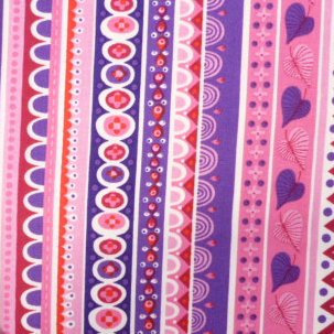 Fabric :: Forever Magic :: Pink & Purple Folk Stripes