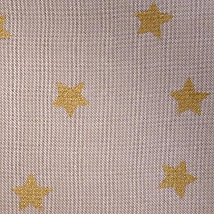 Fabric :: Wide :: Natural Christmas :: Big Gold Stars