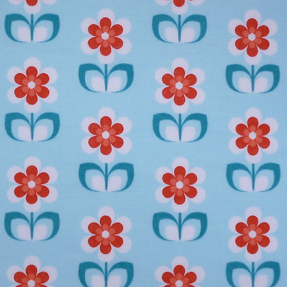 Fabric :: Wide :: Daisy on Blue