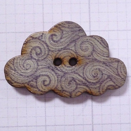 Wooden Cloud Button :: Curl