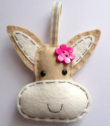 Handmade Mini Christmas Decoration :: Happy Donkey