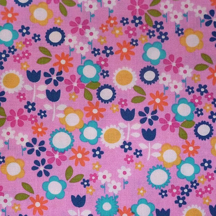 Fabric :: Flower Drift :: Pink Flowers
