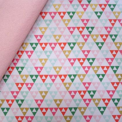 Fabric Felt :: On Trend :: Triangles on Blush