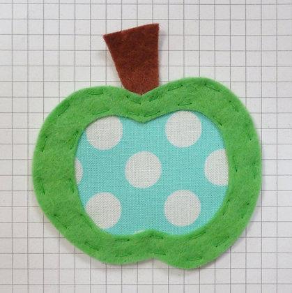 Ta Dot Turquoise :: Apple :: Handmade Embellishment