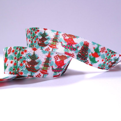 Pattern Fold Over Elastic :: Christmas Trees