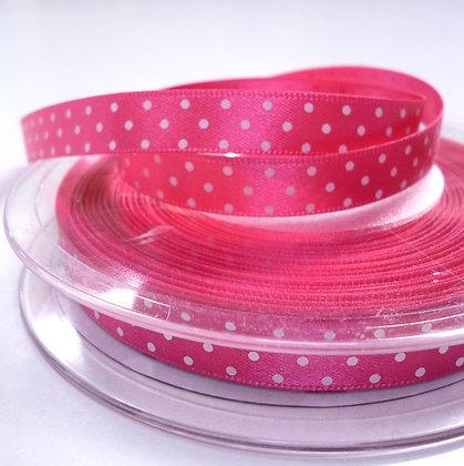 Micro Dot Satin Ribbon :: Bright Pink