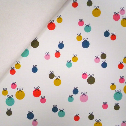 Fabric Felt :: Merry and Bright :: Baubles on Natural