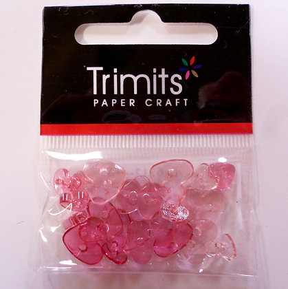 Pack of Tiny Hearts :: See-Thru Pink