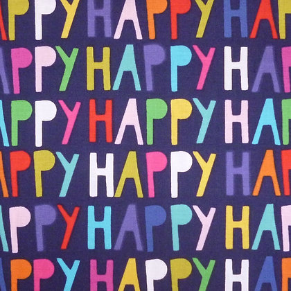 Fabric :: Happy! :: Navy Words